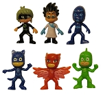 6pc PJ Masks CAKE TOPPER Catboy Owlette Gekko Superhero 6 Figure Set Birthday Party Cupcakes Figurines * Fast Shipping * Connor Amaya Greg Toy Doll Set